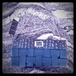 Lavish Teal Basket Weave Clutch ❤BNWT